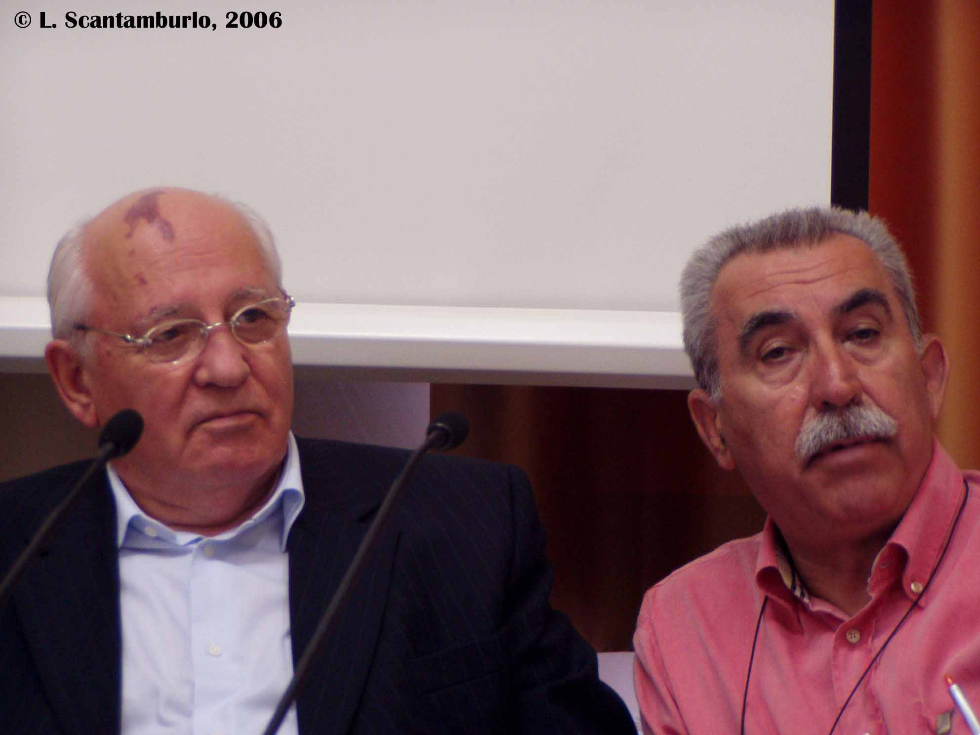 M.S. Gorbachev and G. Chiesa - Press conference, June 2006, San Servolo Island