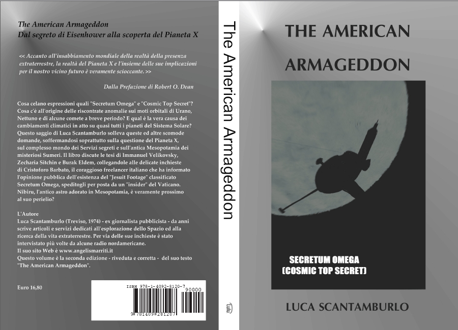 The American Armageddon, by L. Scantamburlo, second edition, Lulu.com, 2009, full cover