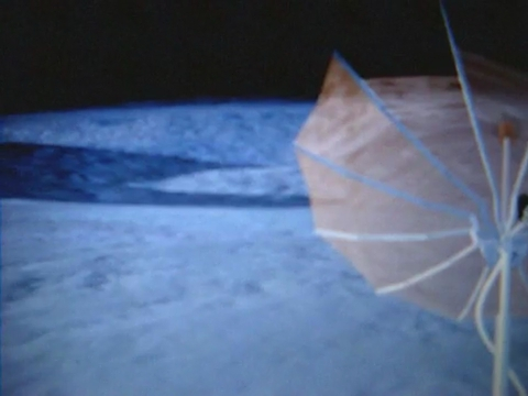 "Frame from a video uploaded on YouTube by ""moonwalker1966delta"", the alleged Apollo 19 Commander: the video would be an evidence of an EVA (the nr. 2, Apollo 20 mission, August 1976, dark side of the Moon, on the way to the mothership)"