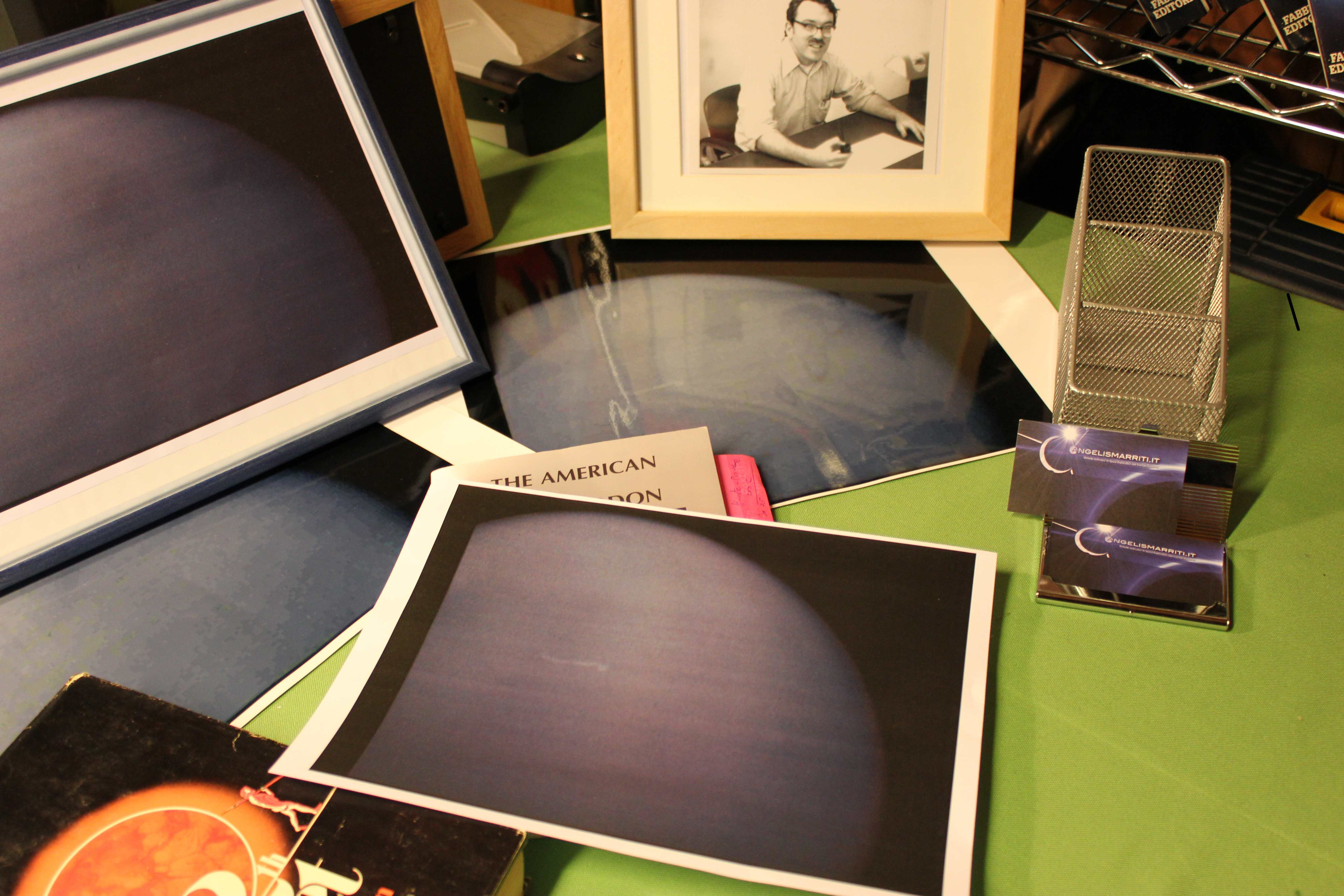 Photographic prints of a couple of images sent to Luca Scantamburlo in the year 2006 by an European insider.They would portray Nibiru, the Tenth Planet, photographed by the space probe Pioneer 10 during a secret fly-by (extended mission). Credit: Photo by Luca Scantamburlo, (C) 2013